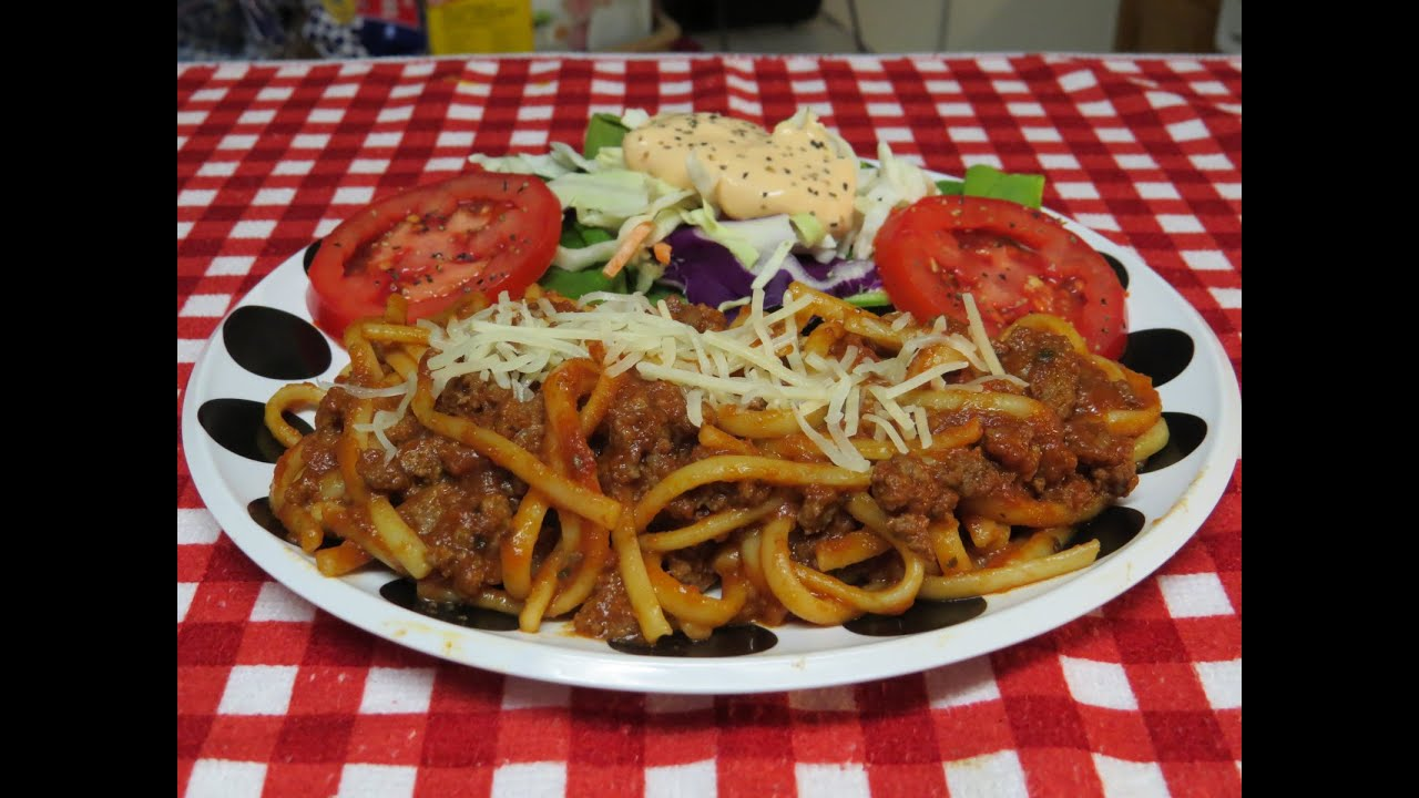 Easy Spaghetti with Ground Beef Recipe - YouTube