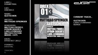 Matthias Springer - Gletscher Remixes (Diametral)