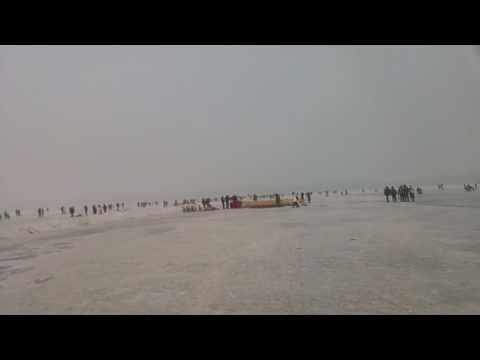 Harbin Songhua River Ice land 哈爾濱 松花江 冰雪世界