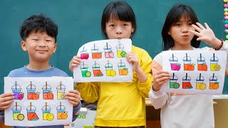 Kids Go To School Learn Tools Names with Tea Milk Toys for Kids