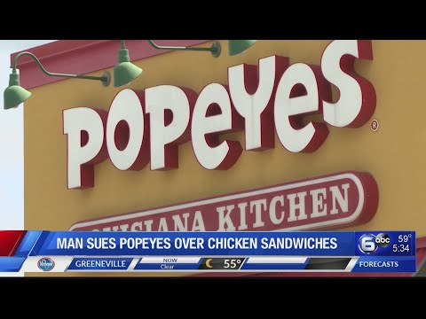 Kydd Joe - Man sues Popeyes over sold-out chicken sandwich..