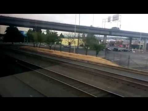 Riding the Sounder train south from Seattle