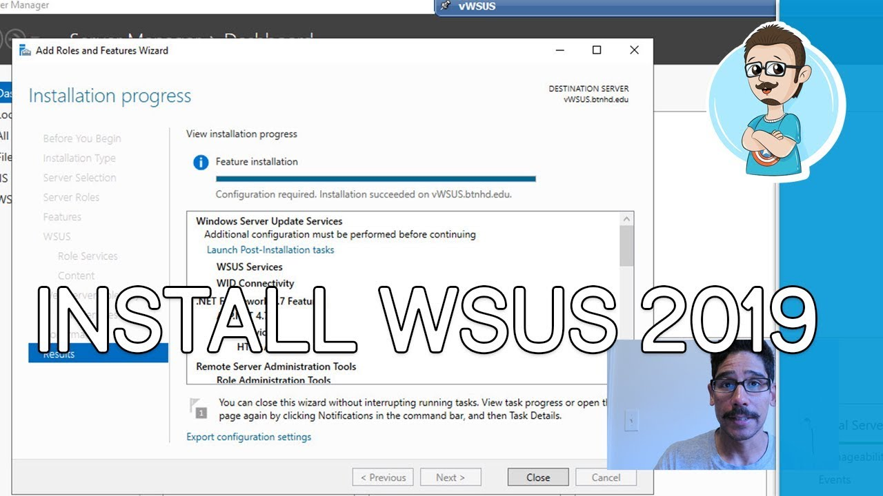 Install WSUS on Windows Server 2019!