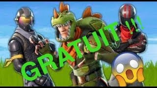 FORTNITE HAVE THE 3 SKINS (DINOSAURE, MOTARD, FUTUR) FREE - ELABLE 😱