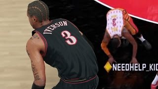 HOLY SH^T! BEST CROSSOVER EVER! Amethyst Allen Iverson Debut! NBA 2k16 MyTeam Gameplay