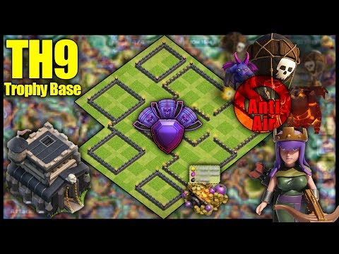 UNBEATABLE TH9 [Town Hall 9] Trophy Base! w/ Replays Anti Air, Anti 2 Star - Clash Of Clans Base