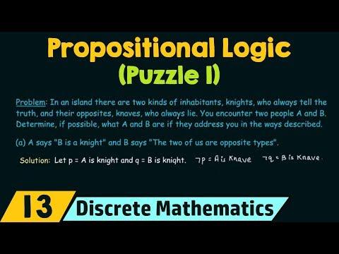 Propositional Logic − Puzzle 1