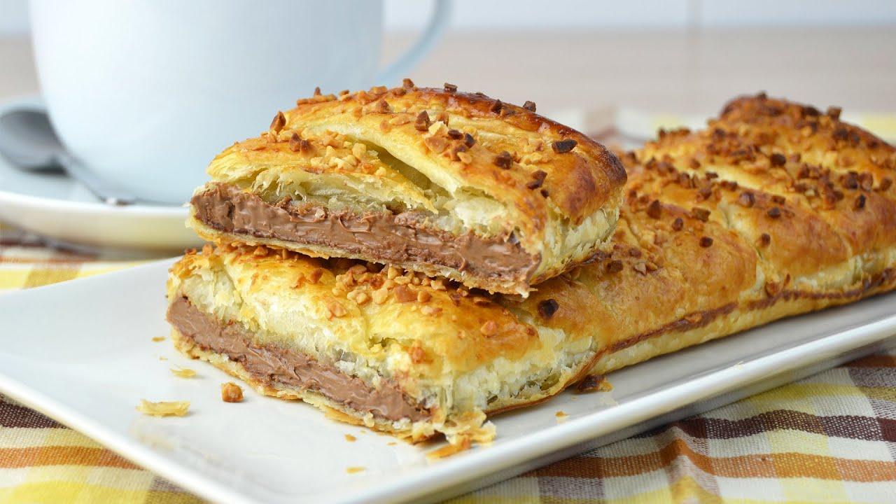 Chocolate Puff Pastry Braid - Easy Puff Pastry Dessert Recipe - YouTube