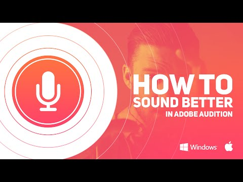 Make your voice sound better in adobe audition by Swerve™