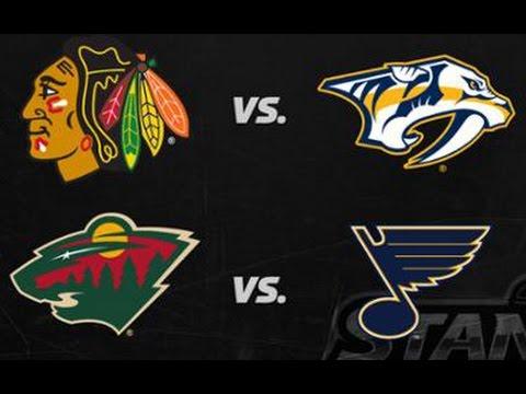 NHL 2017 Stanley Cup Playoffs - Central Division Round 1 | Blackhawks vs Predators | Wild vs Blues