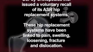 Morris, King & Hodge DePuy ASR Hip Replacement Systems