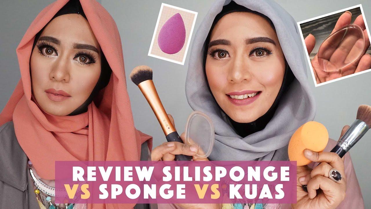 Review Silisponge Untuk Aplikator Foundation Perbandingan Dengan Bening Oval Silicone Sponge Transparant Kuas Dan Blender Youtube