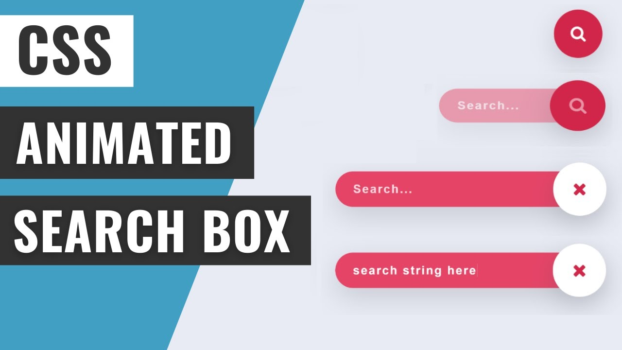 Animated Search Box Using HTML and CSS