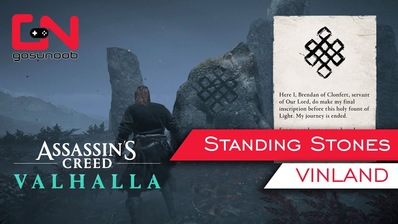 Ac Valhalla Vinland Standing Stones Brendan Of Clonfert Mystery Puzzle Solution Youtube