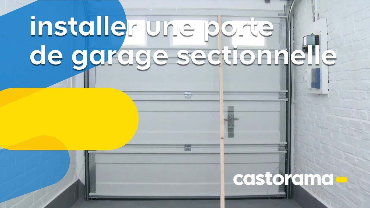 installer une porte de garage sectionnelle castorama youtube. Black Bedroom Furniture Sets. Home Design Ideas