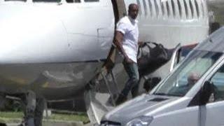 Kanye West, Kim Kardashian & Guests Arrive for Wedding