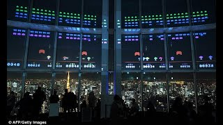 Space Invaders on Tokyo skyscraper to celebrate 40 years