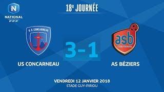 Concarneau vs AS Beziers full match