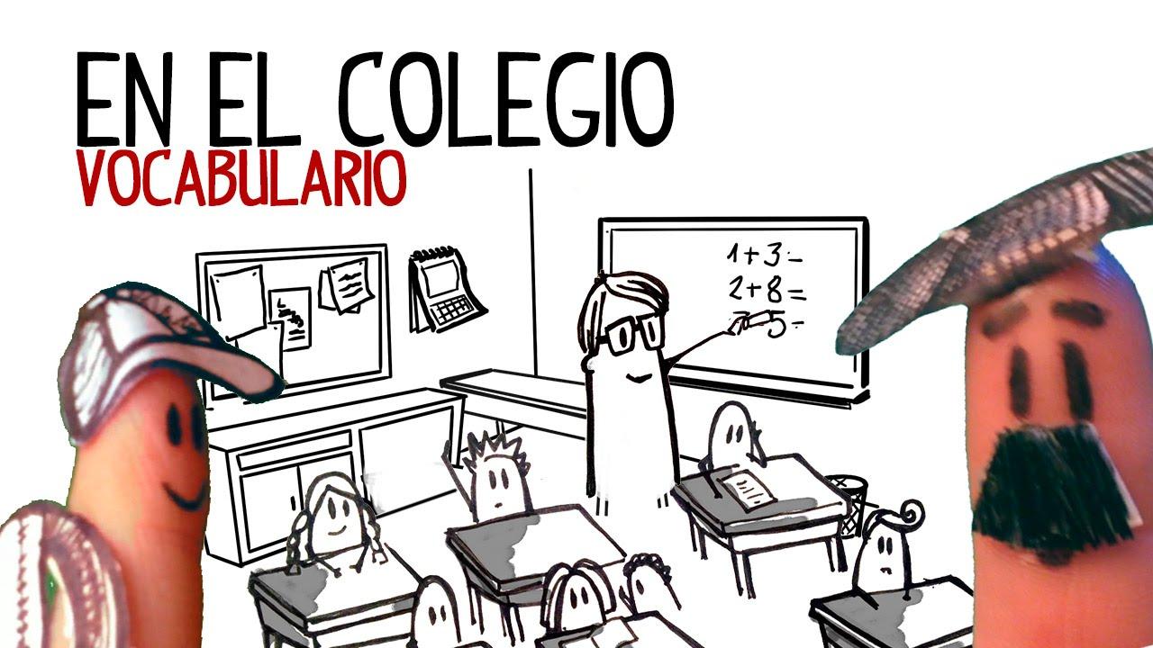 Vocabulário Da Escola Em Espanhol