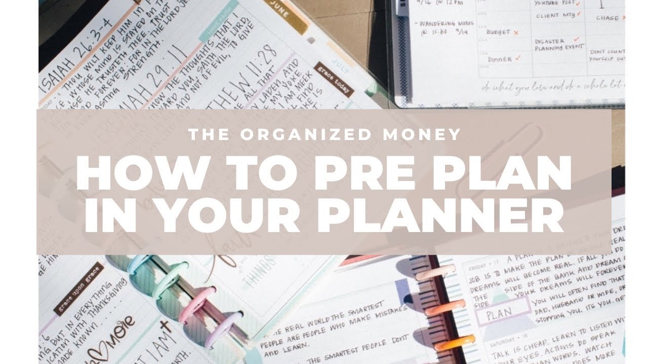 How To Pre Plan In Your Planner