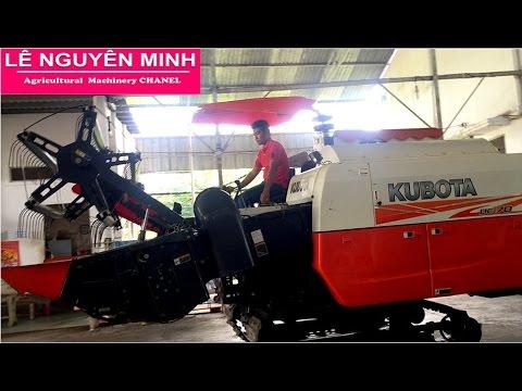 Minh Nhã -ĐẢ BÁN Bán máy cắt lúa Kubota DC70 Thái 505 giờ đã sử dụng mới 80% .DC70 Bãi  - 0997000100