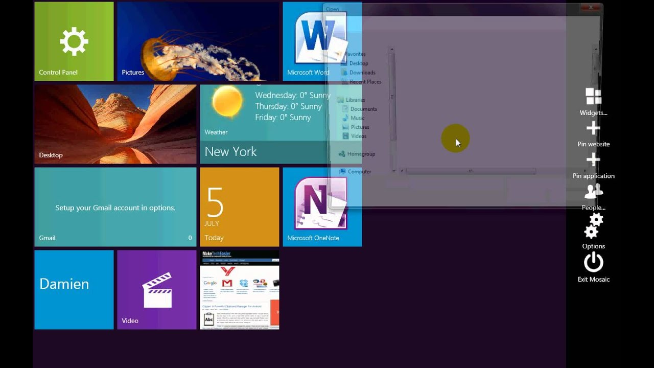 Mosaic windows 8 edition: get metro-style features in windows 7.