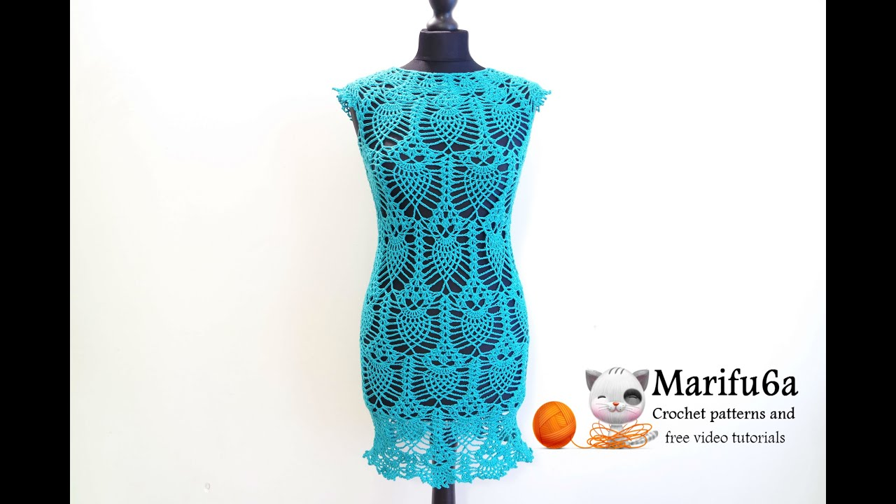 How to crochet pineapple dress tunic with owls free pattern tutorial how to crochet pineapple dress tunic with owls free pattern tutorial by marifu6a youtube ccuart