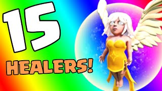 Clash of Clans [HOW TO USE HEALERS: CALLING ALL UNITS SERIES! 15 HEALERS ATTACK IN COC!]