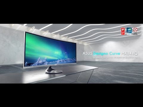 ASUS Designo Curve MX34VQ Curved Monitor - Inspired Elegance. Immersive Experience.