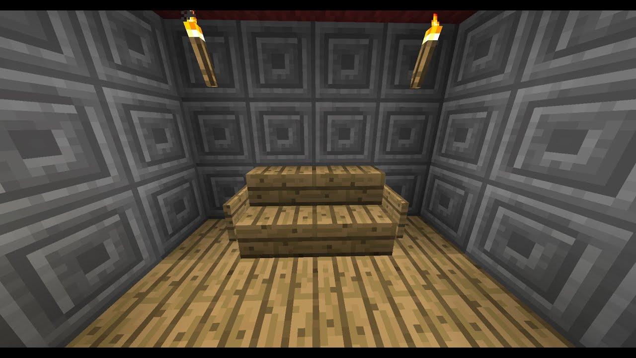 Minecraft como hacer un sill n youtube - Como tapizar un sillon ...