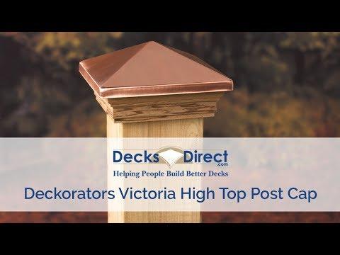 Victoria High Top Pyramid Post Cap by Deckorators