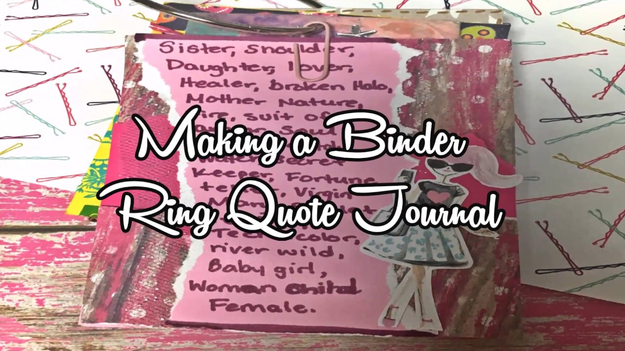 Making A Tag Flip Quote Journal Movie Quotes And Song Lyrics You
