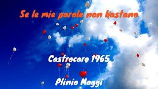 SE LE MIE PAROLE NON BASTANO - PLINIO MAGGI (Maggi-Fallabrino) FESTIVAL DI CASTROCARO 1965 -