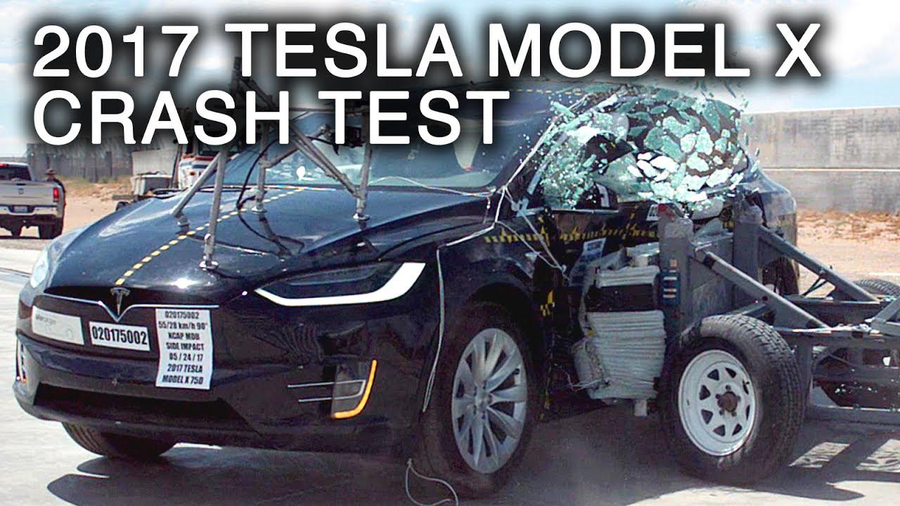 medium resolution of 2017 tesla model x side crash test