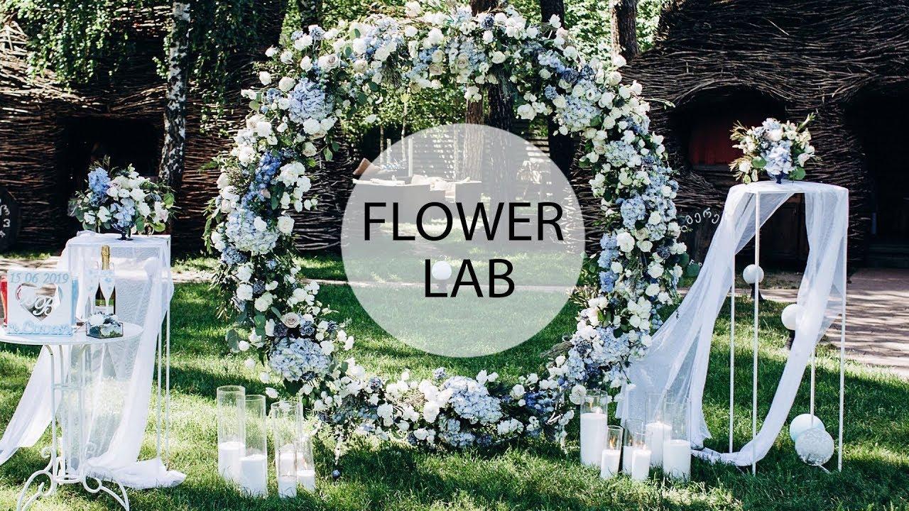 How To Decorate Wedding Round Arch Diy Wedding Arch Youtube