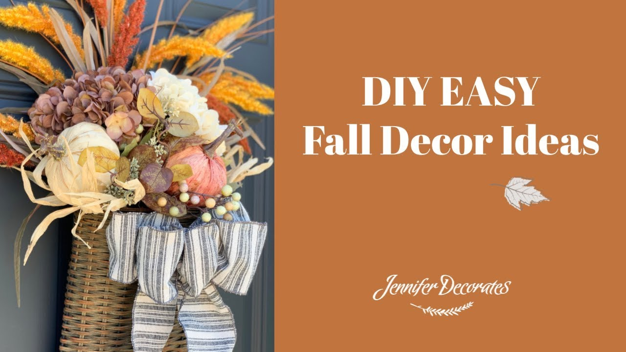 Diy Fall Decor Decorate With Me