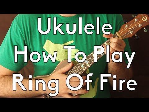 How to Play Ring of Fire on Ukulele by Johnny Cash - Easy Ukulele w/Tabs - Ukulele Lesson