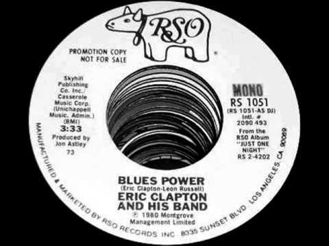 Eric Clapton - Blues Power(Live), Mono Promo 1977-1980 RSO 45 record.
