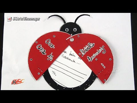 DIY Ladybug Inexpensive Birthday Invitations Card Idea