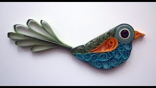 Quilled bird - Oiseau quilling - Pájaro rodó papel