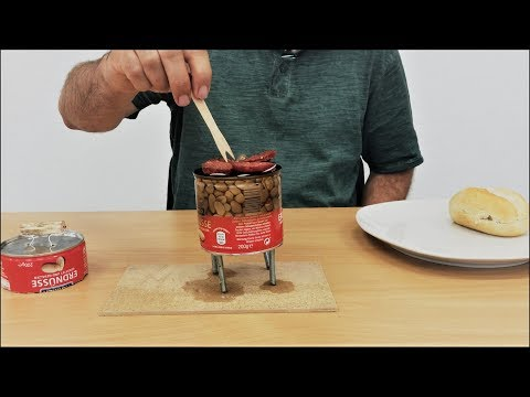DIY Amazing How To Make a Mini BBQ from Can