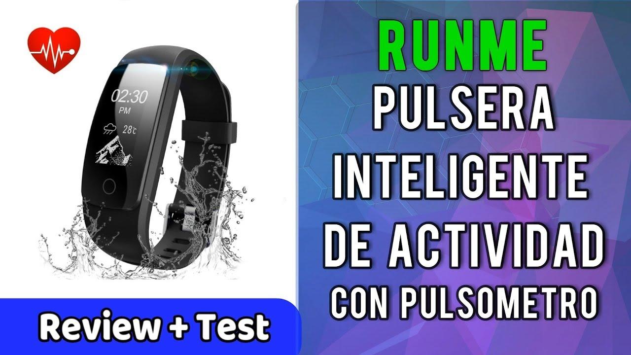 Runme Pulsera Inteligente Actividad Pulsometro IP67 Monitor de ...