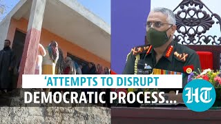 'Terrorists desperate to disrupt J&K's democratic process': Army chief