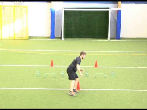 Mini-aita rata tasajalkaa hypäten eteen-sivuille ja sivuttaisliikkuminen