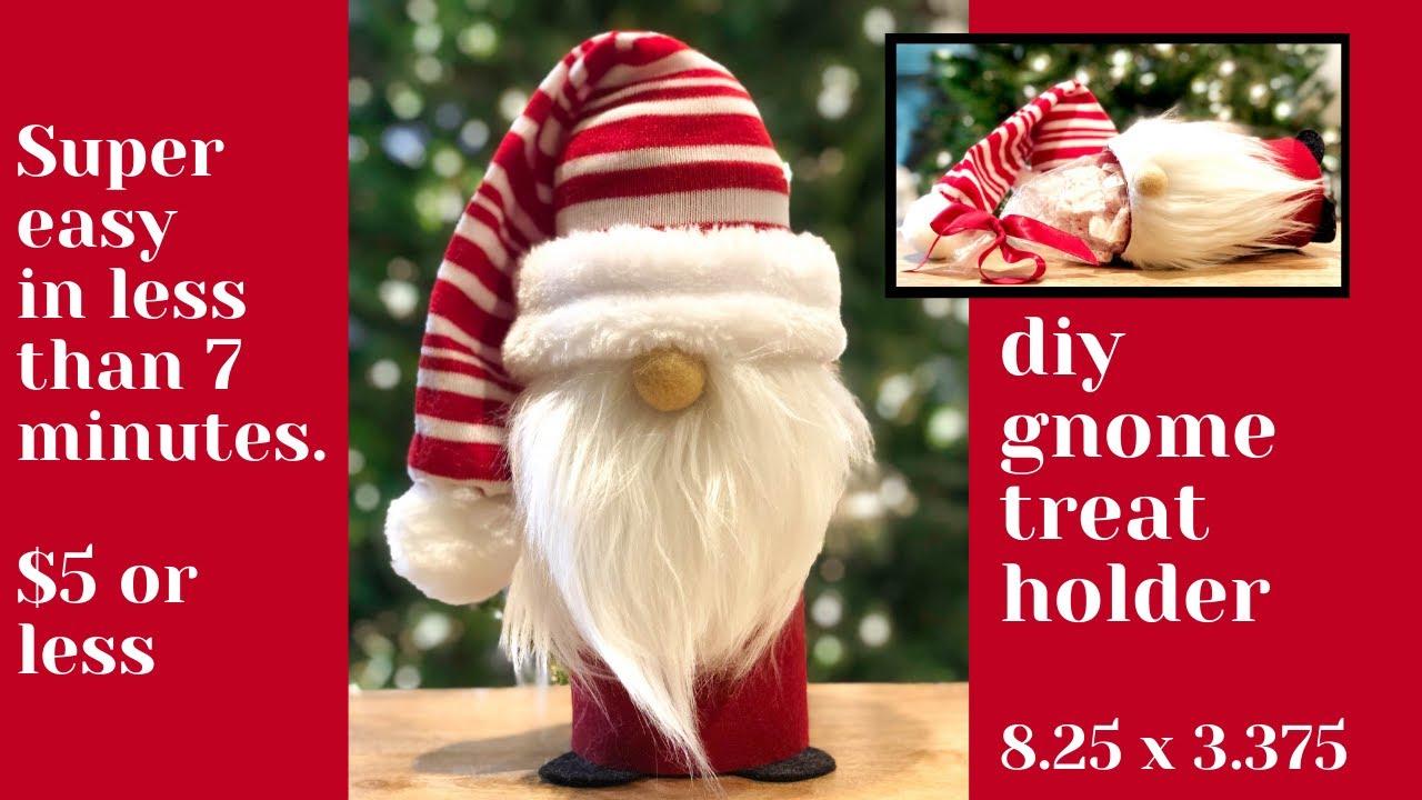 Download DIY Christmas Gnome Treat Holder Tutorial/No sew gnome/DIY gnomes