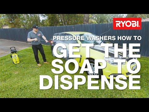 How to use the soap dispenser on your RYOBI pressure washer