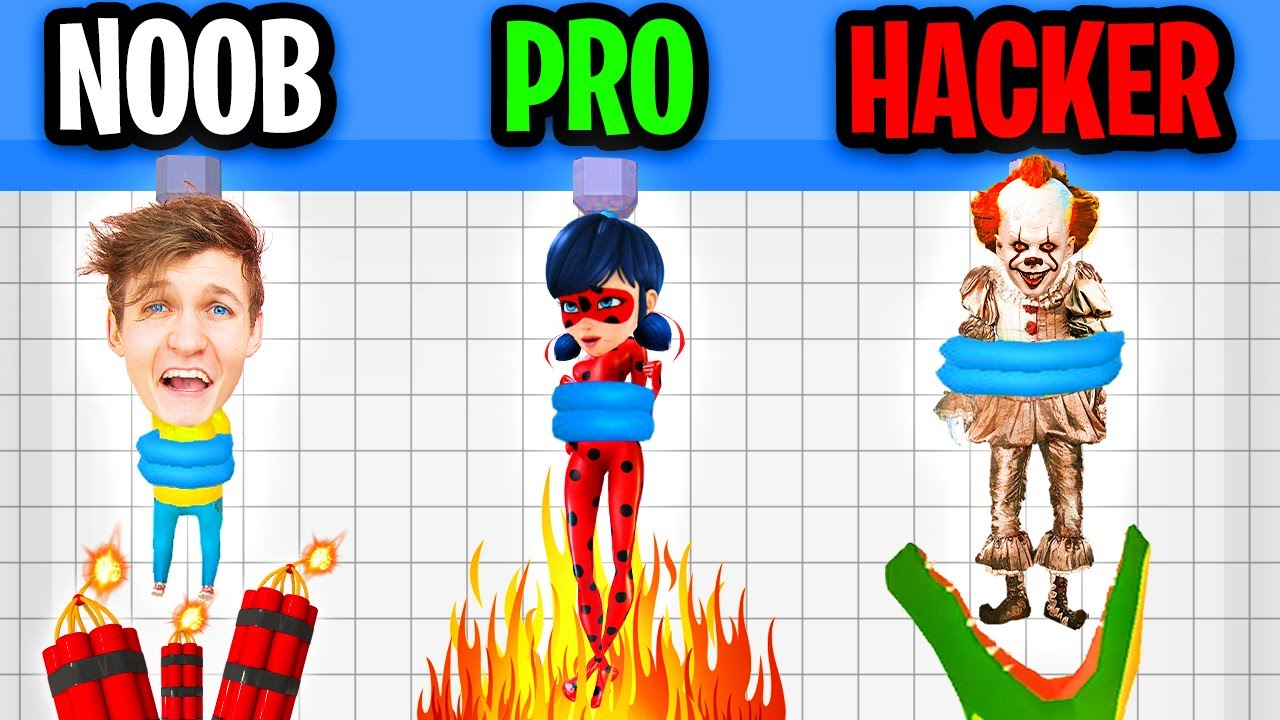 NOOB vs PRO vs HACKER In RESCUE CUT!? (NEW SECRET LEVELS!)