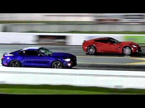 2015 Mustang EcoBoost vs 2014 Corvette 1/4 mile Drag Race ...