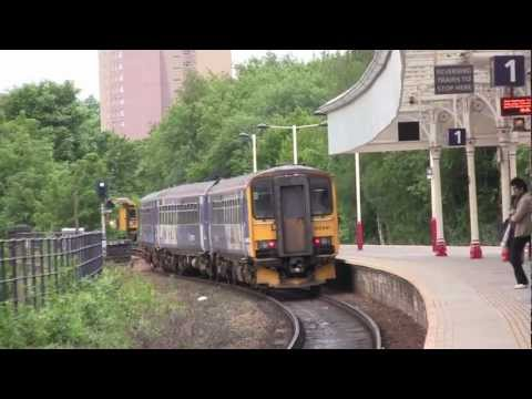 Halifax Railway Station, West Yorkshire, UK - 12th June, 2012 (720 HD)