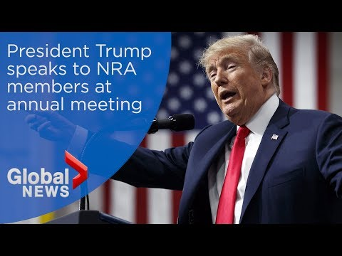 WATCH LIVE: Trump speaks at NRA annual meeting in wake of Parkland shooting